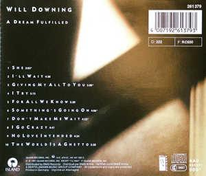 Back Cover Album Will Downing - A Dream Fulfilled