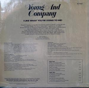 Back Cover Album Young And Company - I Like (What You're Doing To Me)