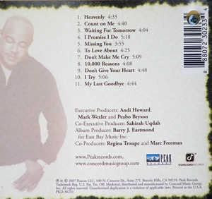 Back Cover Album Peabo Bryson - Missing You
