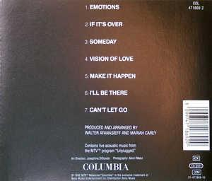 Back Cover Album Mariah Carey - MTV Unplugged EP