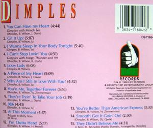 Back Cover Album Fields Richard Dimples - Dimples