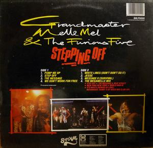 Back Cover Album Grandmaster Melle Mel - Stepping Off