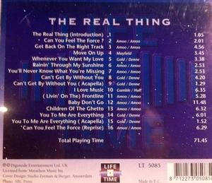 Back Cover Album The Real Thing - The Real Thing Live