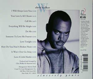 Back Cover Album Chris Walker - Sincerely Yours