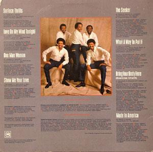 Back Cover Album The Temptations - Surface Thrills
