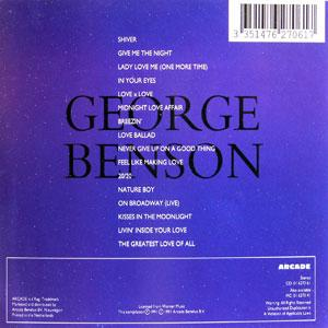 Back Cover Album George Benson - Midnight Moods