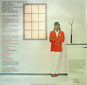 Back Cover Album Randy Hall - I Belong To You