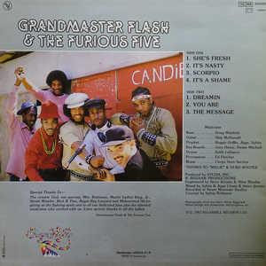 Back Cover Album Grandmaster Flash And The Furious Five - The Message (Feat. The Furious Five)