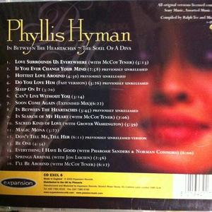 Back Cover Album Phyllis Hyman - In Between The Heartaches - The Soul Of A Diva