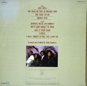 Back Cover Album The Stylistics - Love Spell