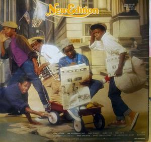 Back Cover Album New Edition - New Edition