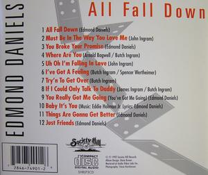 Back Cover Album Edmond Daniels - All Fall Down