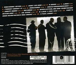 Back Cover Album The Temptations - Awesome
