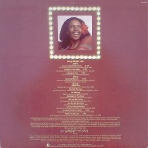 Back Cover Album Betty Wright - Betty Wright Live