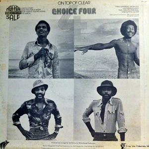Back Cover Album The Choice Four - On Top Of Clear