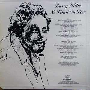 Back Cover Album Barry White - No Limit On Love