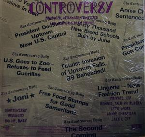 Back Cover Album Prince - Controversy
