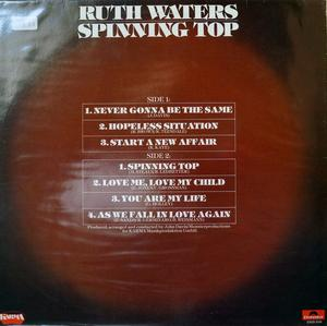 Back Cover Album Ruth Waters - Spinning Top