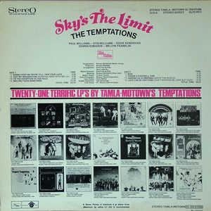 Back Cover Album The Temptations - Sky's The Limit