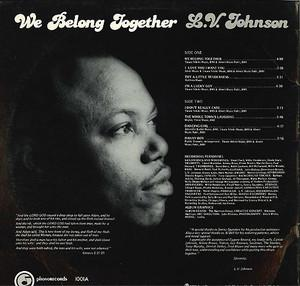 Back Cover Album L.v. Johnson - We Belong Together
