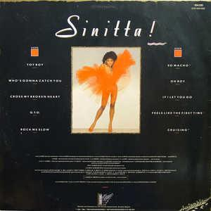 Back Cover Album Sinitta - Sinitta!
