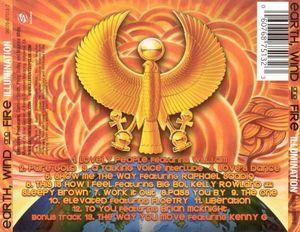 Back Cover Album Wind & Fire Earth - Illumination