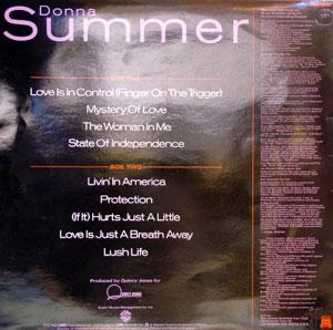Back Cover Album Donna Summer - Love's In Control