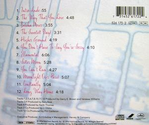 Back Cover Album Vanessa Williams - The Sweetest Days