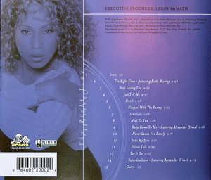 Back Cover Album Cherrelle - The Right Time