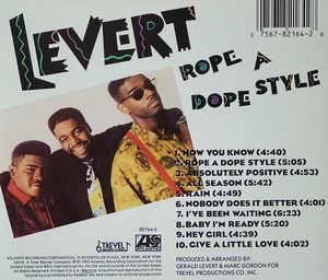 Back Cover Album Levert - Rope A Dope Style