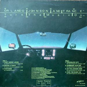 Back Cover Album Orlando Johnson And Trance - Turn The Music On