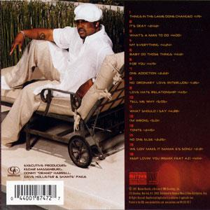Back Cover Album Dave Hollister - Things In The Game Done Changed