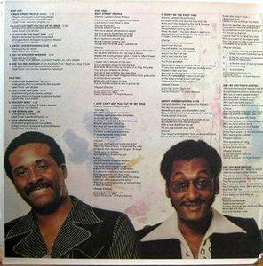 Back Cover Album The Four Tops - Main Street People