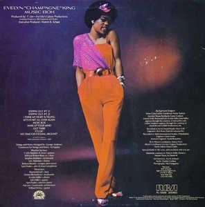Back Cover Album Evelyn 'champagne' King - Music Box