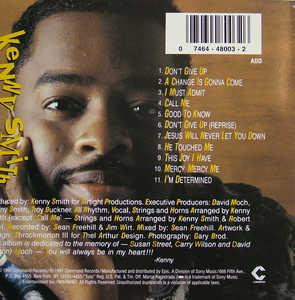 Back Cover Album Kenny Smith - Don't Give Up