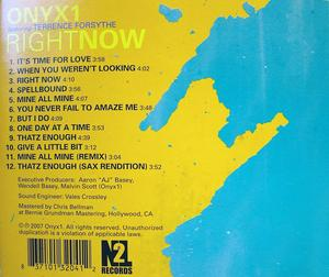Back Cover Album Onyx1 Feat Terrence Forsythe - Right Now