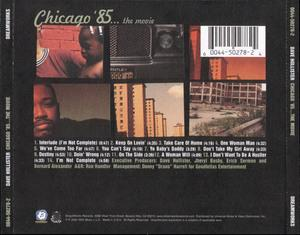 Back Cover Album Dave Hollister - Chicago '85... The Movie