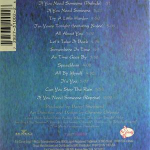 Back Cover Album Audrey Wheeler - I'm Yours Tonight