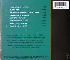 Back Cover Album The Main Ingredient - I Just Wanna Love You