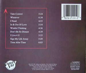 Back Cover Album Gary Taylor - Take Control