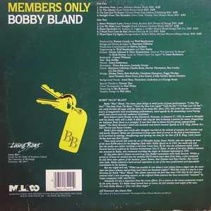 Back Cover Album Bobby Bland - Members Only