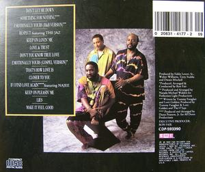 Back Cover Album The O'jays - Emotionally Yours