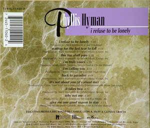 Back Cover Album Phyllis Hyman - I Refuse To Be Lonely