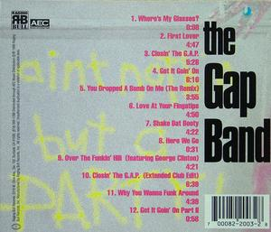 Back Cover Album The Gap Band - Ain't Nothin But A Party