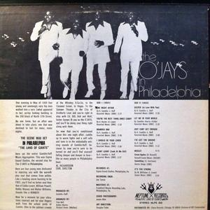 Back Cover Album The O'jays - The O'Jays In Philadelphia 1970