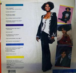 Back Cover Album Dionne Warwick - Reservations For Two