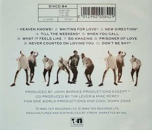 Back Cover Album Cool Down Zone - New Direction