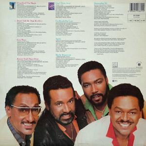 Back Cover Album The Four Tops - Magic
