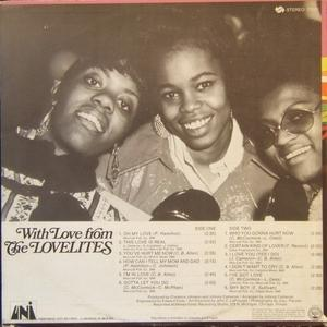 Back Cover Album The Lovelites - With Love From The Lovelites