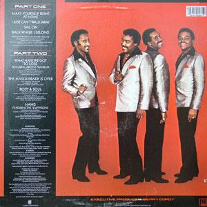 Back Cover Album The Four Tops - Back Where I Belong